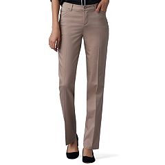 Petite Lee Flex Motion Straight-Leg Mid-Rise Pants
