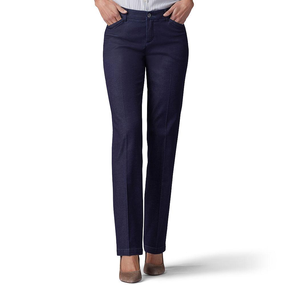 Petite Lee® Flex Motion Straight-Leg Mid-Rise Pants