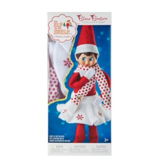 The Elf on the Shelf Claus Couture Snowflake Skirt & Scarf