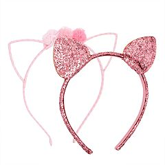 Girls Carter's 2-pack Cat Ear & Floral Headbands