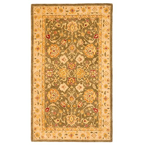 Safavieh Anatolia Kensie Framed Floral Wool Rug