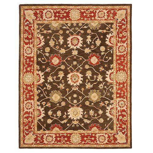 Safavieh Anatolia Pennington Framed Floral Wool Rug