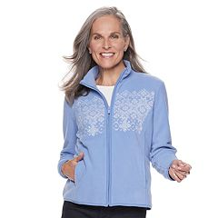 Petite Croft & Barrow® Long Sleeve Fleece Jacket
