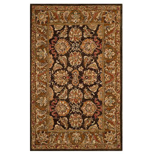 Safavieh Anatolia Amber Framed Floral Wool Rug