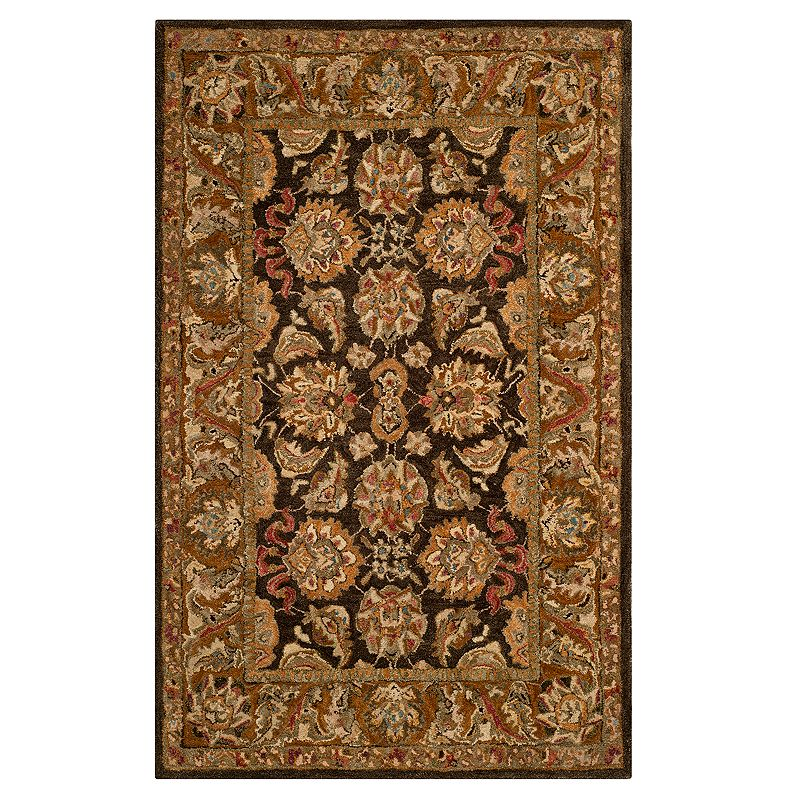 Safavieh Anatolia Amber Framed Floral Wool Rug, Dark Brown, 3X5 Ft Product Image