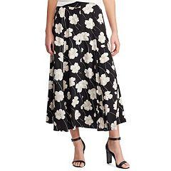 c624179ef8c Women s Chaps Floral A-Line Midi Skirt