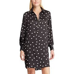 Women's Chaps Polka-Dot Shirt Dress