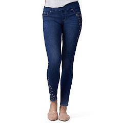 Petite Lee Sculpting Pull-On Mid-Rise Skinny Jeans