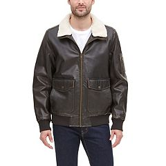 Men's Dockers Maverick Faux-Leather Aviator Bomber Jacket