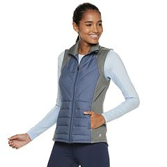 Women's FILA SPORT® Mixed Media Quilted Vest