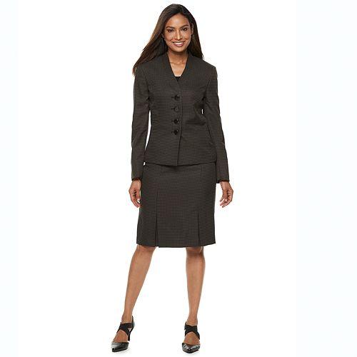 Women's Le Suit 4-Button Jacket & Skirt Set