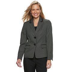 Women's Le Suit Shawl Collar Print Jacket & Solid Pant Suit