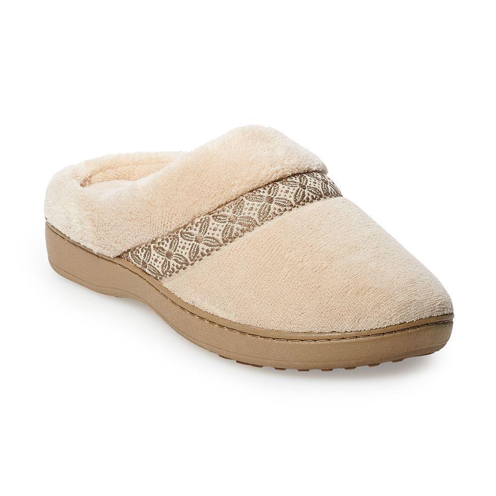 Women's isotoner Jena Microterry Hoodback Slippers