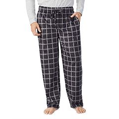 Men s Cuddl Duds Microfleece Sleep Pants. Black Red Plaid Gray Print ... 7d18b0958