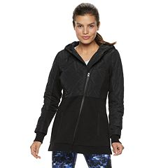 Women's FILA SPORT® Quilted Fleece Hooded Jacket