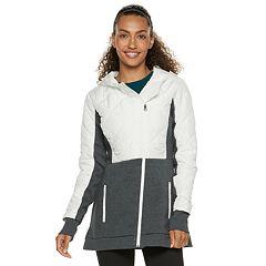 Women's FILA SPORT® Quilted Fleece Hooded Jacket
