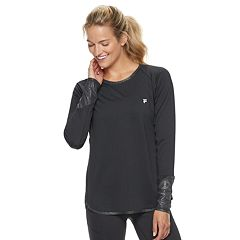 Women's FILA SPORT® Performance Mesh Long Sleeve Tee