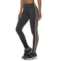 Women's FILA SPORT® Striped Mesh Mid-Rise Leggings