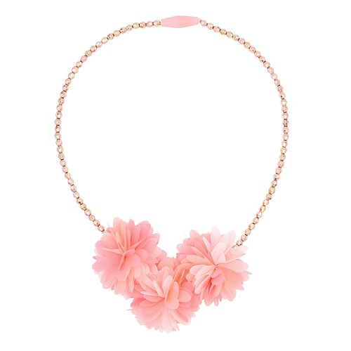 Girls Carter's Chiffon Plume Floral Necklace