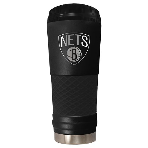 Brooklyn Nets Stealth Draft Powder-Coated Travel Tumbler