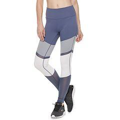 Women's FILA SPORT® Mesh Inset Mid-Rise Leggings
