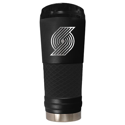 Portland Trail Blazers Stealth Draft Powder-Coated Travel Tumbler