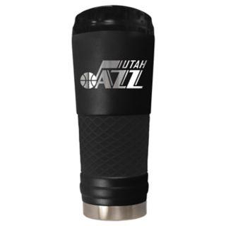 Utah Jazz Stealth Draft Powder-Coated Travel Tumbler