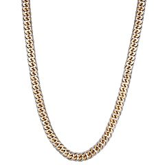 Men's LYNX Gold-Tone Stainless Steel Curb Chain Necklace - 24 in.