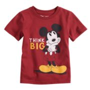 "Disney's Mickey Mouse Baby Boy ""Think Big"" Softest Graphic Tee by Jumping Beans®"