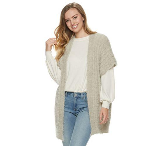Women's LC Lauren Conrad Cozy Cable Knit Kimono