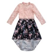 Girls 7-16 Emily West Mockneck High-Low Dress