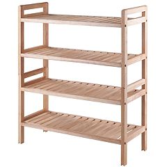 Winsome Mercury Stackable Shoe Rack 2-piece Set
