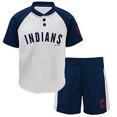 Baby Cleveland Indians  Henley Tee & Shorts Set