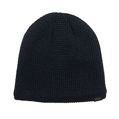 Men's Waffle-Knit Fleece-Lined Beanie