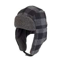 Men's Buffalo Plaid Sherpa-Lined Trapper Hat