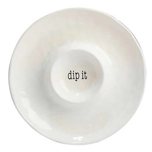 Certified International Just Words Chip & Dip Tray