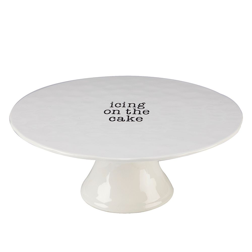 Certified International Just Words Cake Plate with Stand