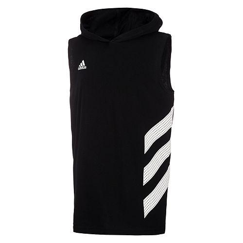 Boys 8-20 adidas Striped Basketball Hoodie
