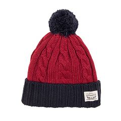 Men's Levi's® Cable-Knit Pom Beanie