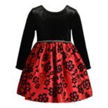 Toddler Girl Youngland Velvet Floral Dress