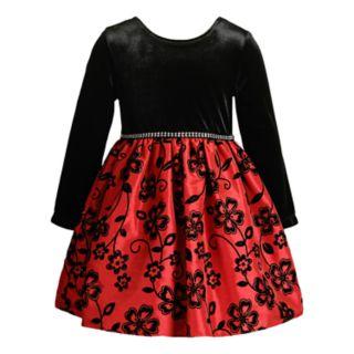 Toddler Girl Youngland Velvet Floral Dress