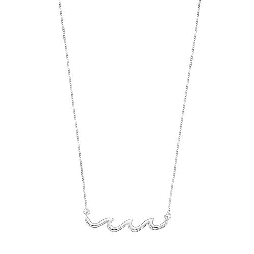 Timeless Sterling Silver Wave Necklace