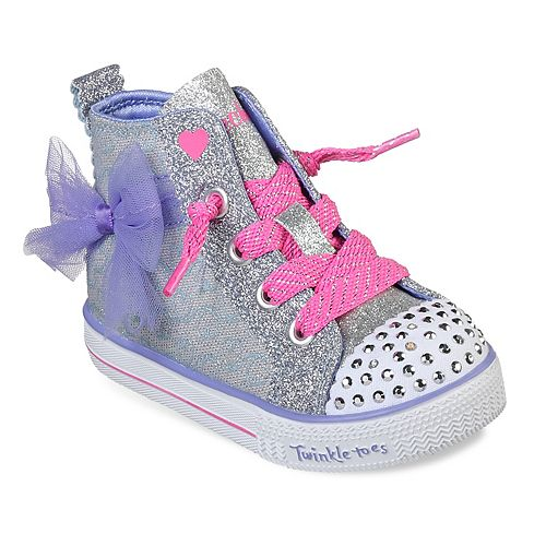 007cf16085a08 Skechers Twinkle Toes Shuffle Lite Harmony Hearts Toddler Girls  Light Up  High Top Shoes