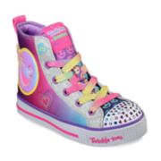 Skechers Twinkle Toes Twinkle Lite Happy Pals Girls' Light Up High Top Shoes