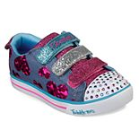 Skechers Twinkle Toes Sparkle Lite Flutter Fab Girls' Light Up Shoes