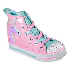 Skechers Twinkle Toes Twinkle Lite Unicorn Friends Girls' Light Up High Top Shoes