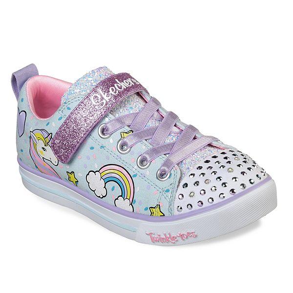 matraz Nuestra compañía difícil  Skechers Twinkle Toes Shuffles Sparkle Lite Unicorn Girls' Light Up Shoes