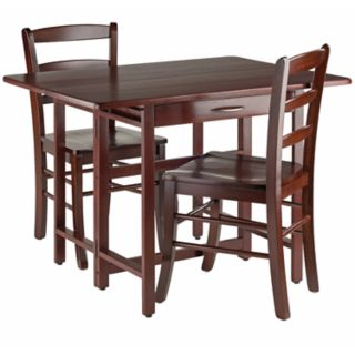 Winsome Taylor Drop-Leaf Table and Chairs 3-piece Set