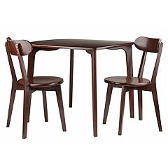 Winsome Pauline Dining Table and Chairs 3-piece Set