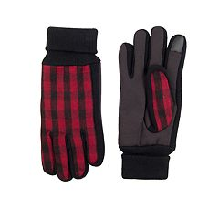 Men's Levi's® Buffalo Check Touchscreen Stretch Gloves